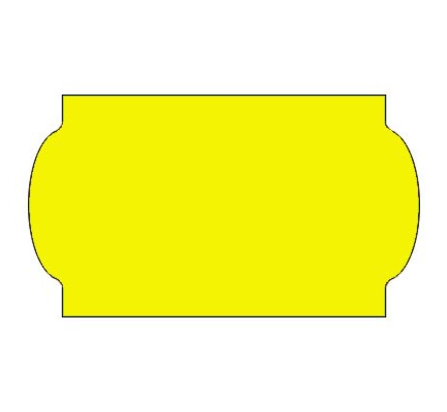 Prijsetiketten 32x19 fluor geel - 1ds á 30 rol