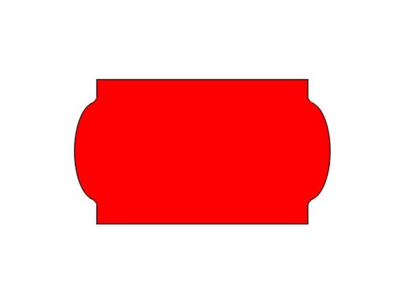 METO Prijsetiketten 32x19 fluor rood - 1ds á 30 rol - meto