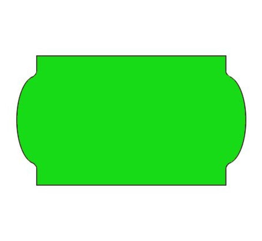 Prijsetiketten 32x19 fluor groen - 1ds á 30 rol - meto