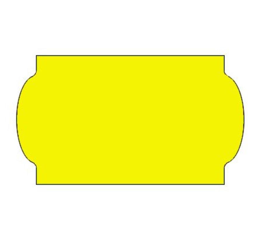 Prijsetiketten 32x19 fluor geel - 1ds á 30 rol - meto