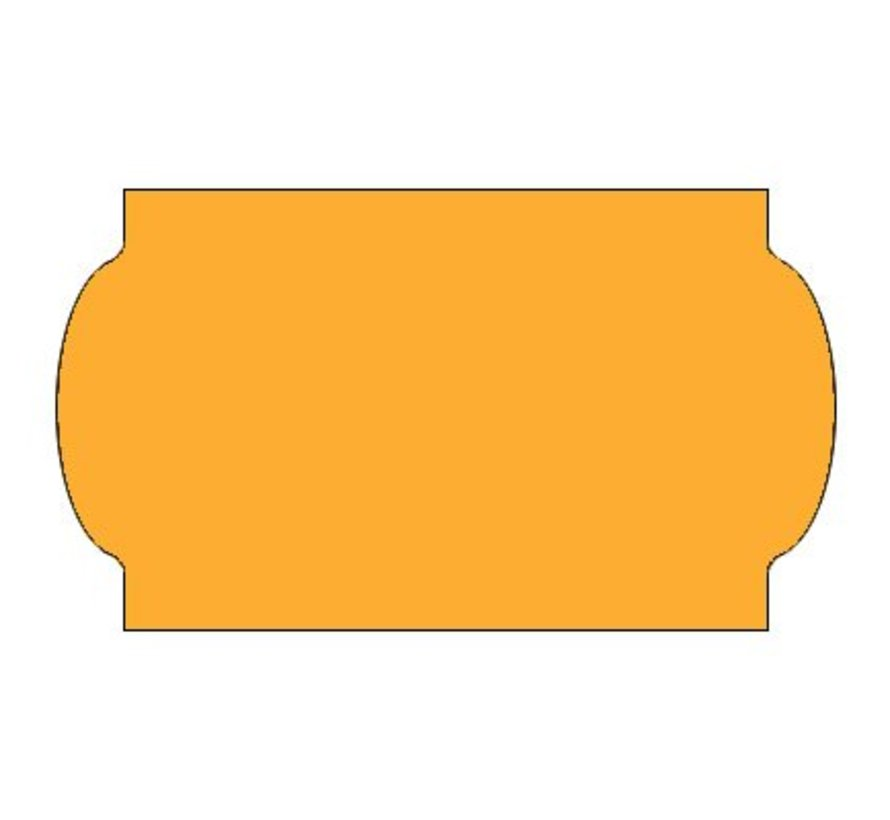 Prijsetiketten 32x19 fluor oranje - 1ds á 30 rol - meto