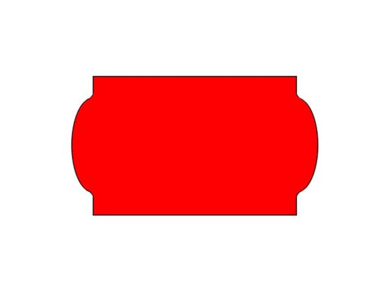 Prijsetiketten 32x19 fluor rood universeel - 1ds á 30 rol