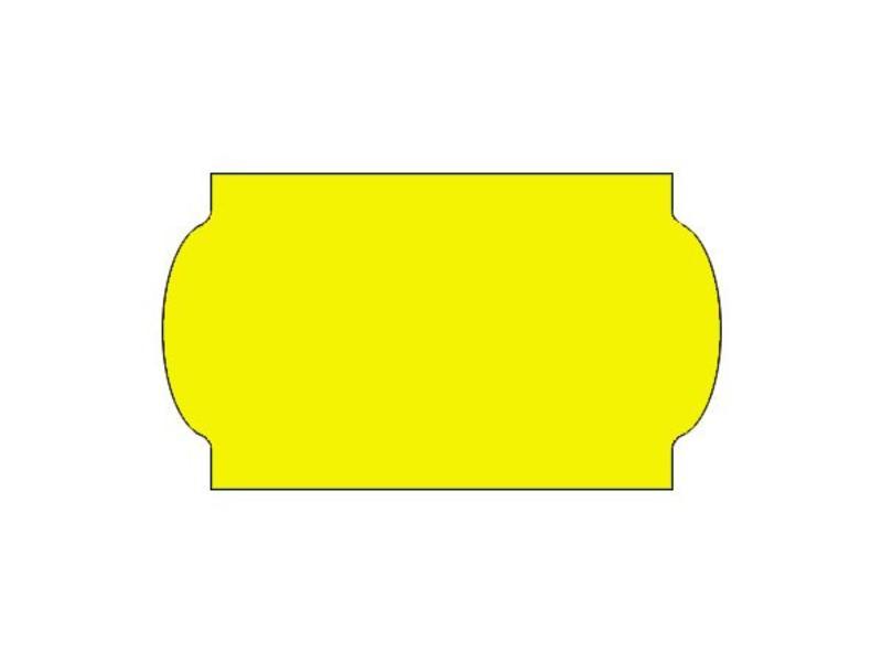Prijsetiketten 32x19 fluor geel universeel - 1ds á 30 rol