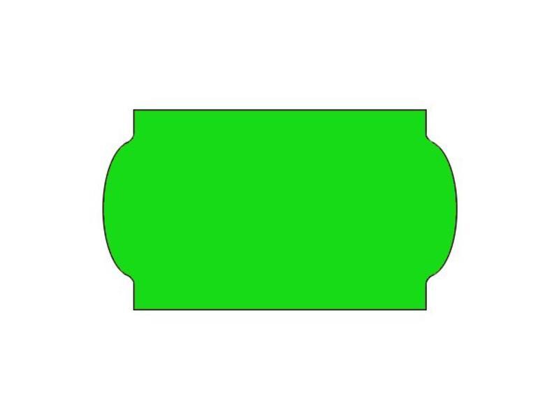 Prijsetiketten 32x19 fluor groen universeel - 1ds á 30 rol