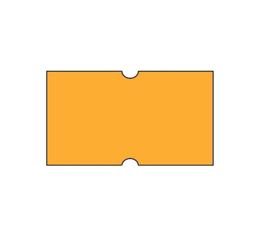 Prijsetiketten 21x12 fluor oranje Universeel - 1ds á 50 rol
