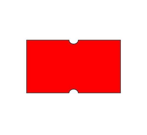 Prijsetiketten 21x12 fluor rood Universeel - 1ds á 50 rol