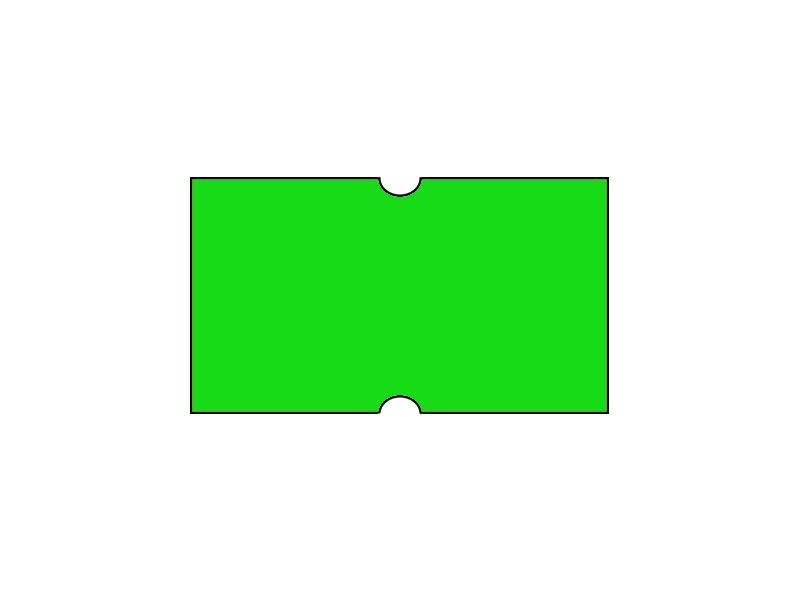 Prijsetiketten 21x12 fluor groen Universeel - 1ds á 50 rol
