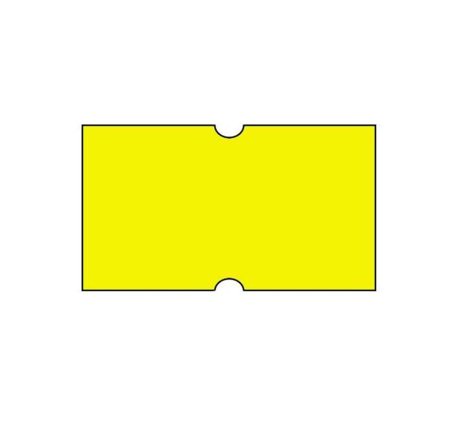 Prijsetiketten 21x12 fluor geel Universeel - 1ds á 50 rol