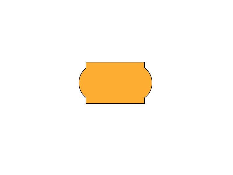 METO prijsetiketten 22x12 fluor oranje - 1 ds à 42 rol