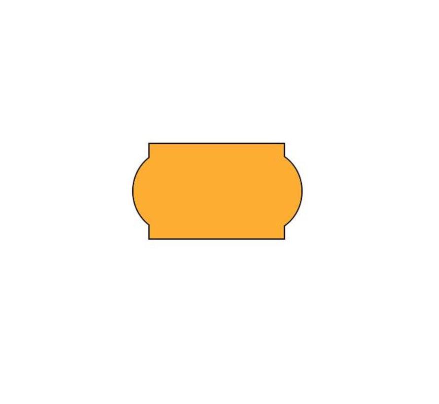 prijsetiketten 22x12 fluor oranje - 1 ds à 42 rol