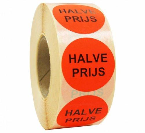 Sticker HALVE PRIJS 35mm - rood/zwart