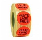 Sticker VASTE LAGE PRIJS 35mm - rood/zwart
