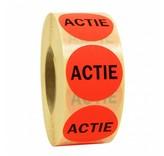 Sticker ACTIE 35mm - rood/zwart