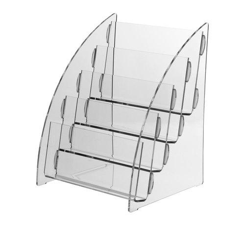 Folderhouder Nigella 4-vaks DIN A5 dwars