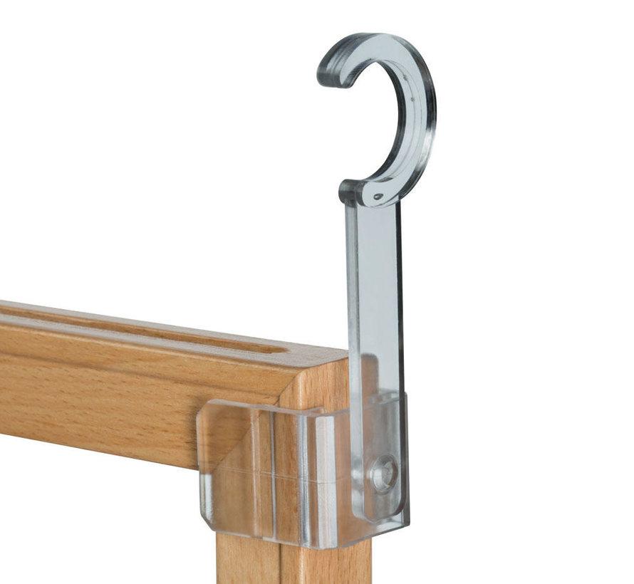 Buishouder voor houten kaartraam, scharnierbaar