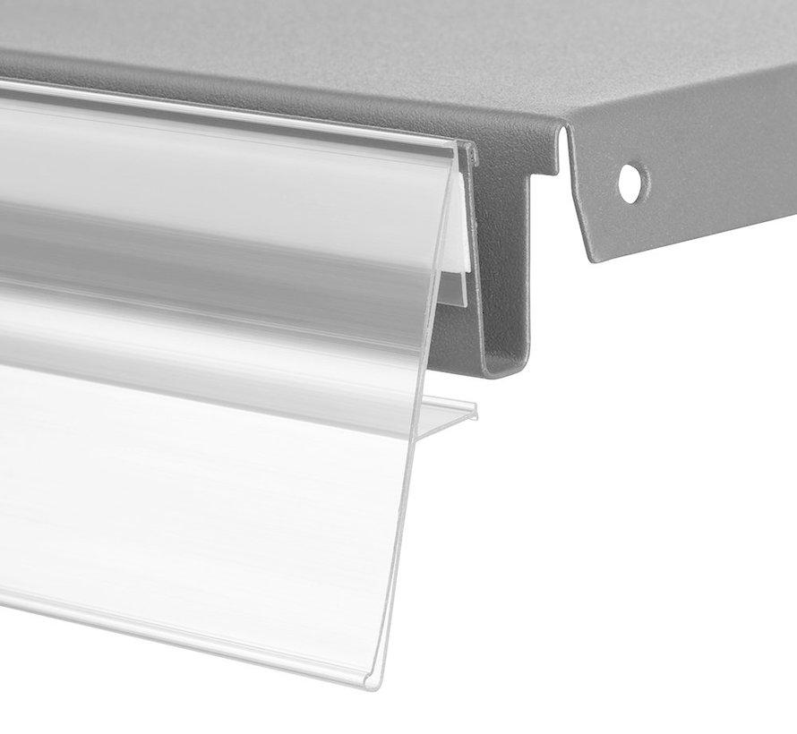 Barcode-prijskaartrail NO met steunrand - inschuifhoogte 60 mm
