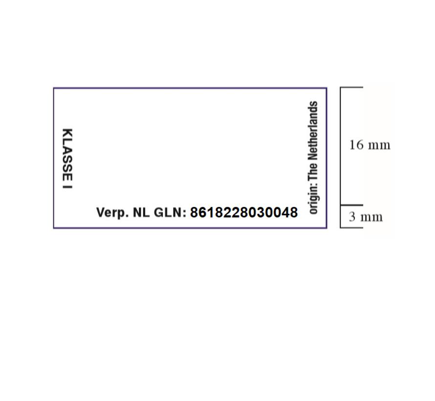 etiketten 37x19 wit - 1ds à 25 rol - bedrukt