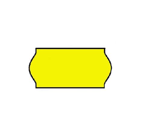 BLITZ prijsetiketten 22x12 fluor geel - 1 ds à 42 rol -