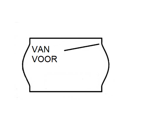 METO Van/voor prijsetiketten 26x16 wit - 1ds à 36 rol