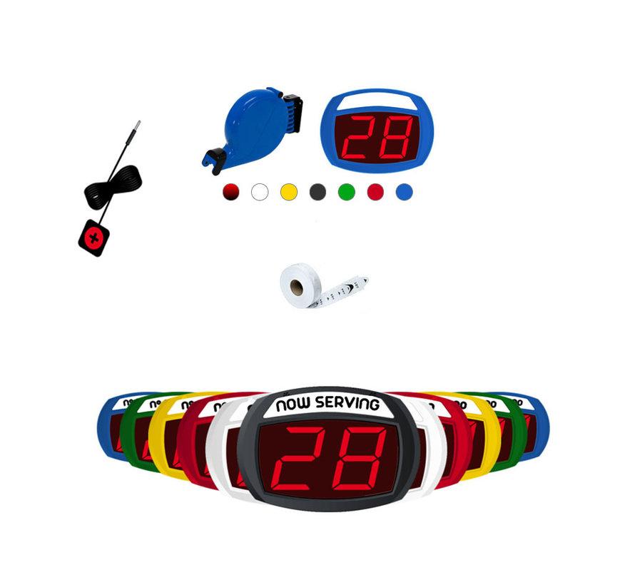 Gekleurd volgnummersysteem set