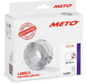 METO METO prijsetiketten 22x16 wit
