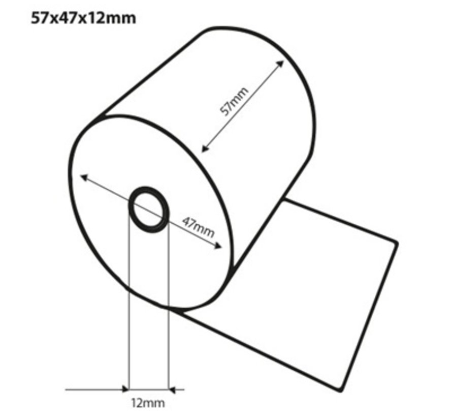 Pinrollen 57x47x12 mm 50 rol