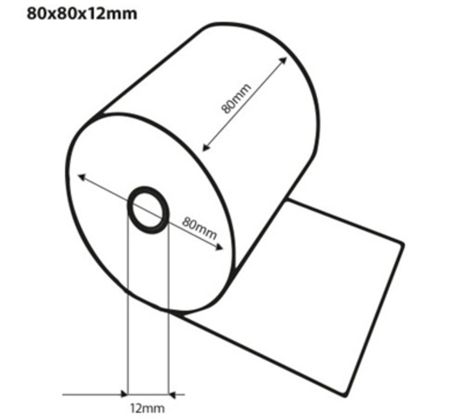 Thermorollen 80x80x12 mm - 20st/ds