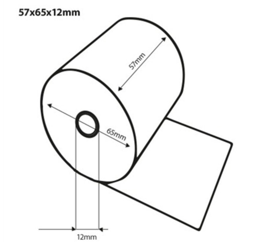Thermorollen 57x65 (50m)x12 mm