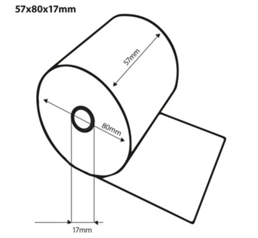 Thermorollen 57x80x17 mm
