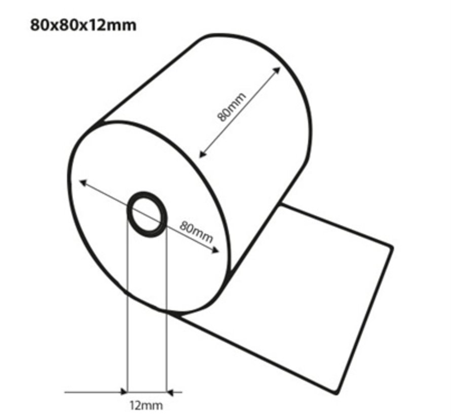 Thermorollen 80x80x12 mm, 70 grams