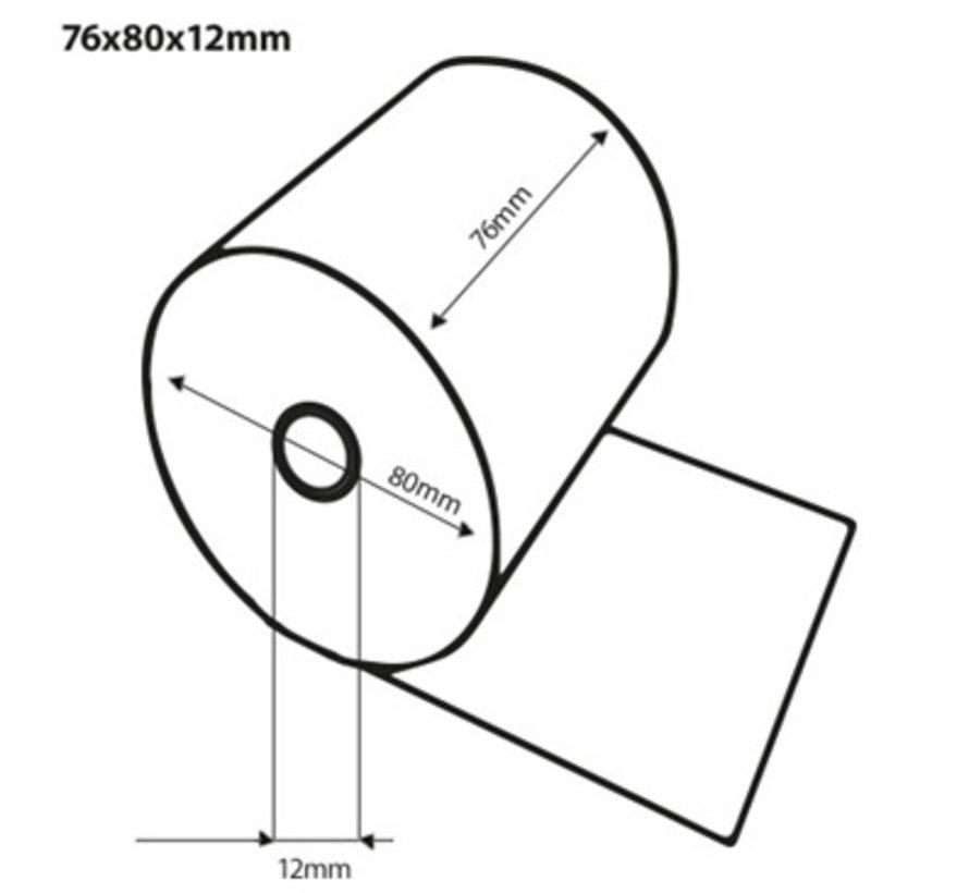 Witte kassarollen houtvrij 76x80x12 mm