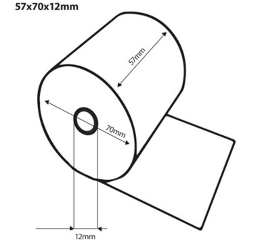 Witte kassarollen houtvrij 57x70x12 mm
