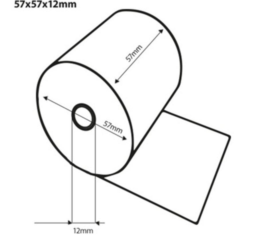 Kassarollen Duplorollen wit/geel 57x57x12 mm