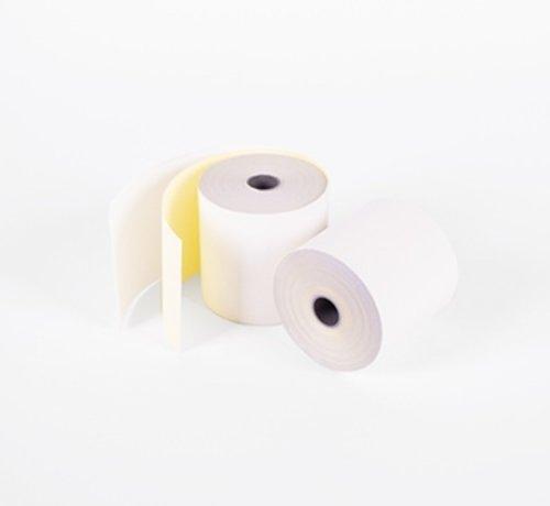 Kassarollen Duplorollen wit/geel 76x70x12 mm
