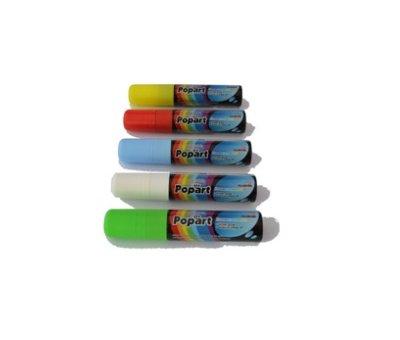 Popart Krijtstiften 15mm - Wit (5 stuks)