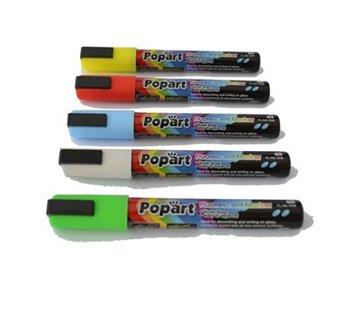 Popart Krijtstiften 5mm - 5 kleuren