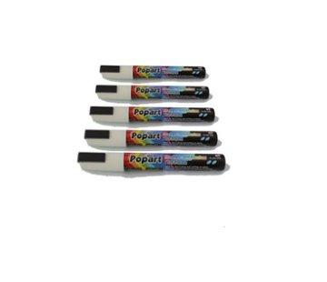 Popart Krijtstiften 5mm - Wit (5 stuks)