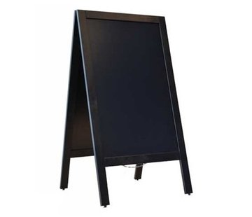 Krijtstoepbord, Zwart - 75x135cm