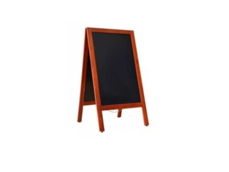 Krijtstoepbord Mahonie 75x135cm
