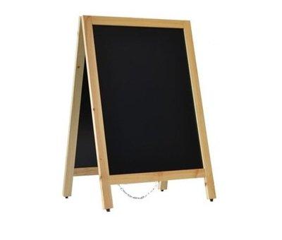 Krijtstoepbord Blank 55x85 cm