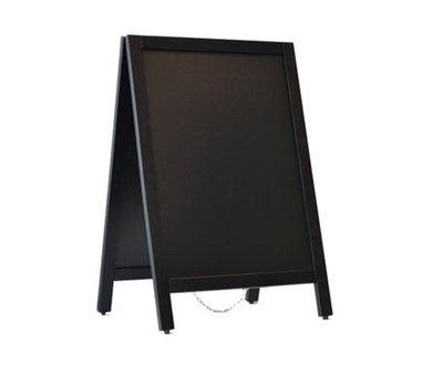 Krijtstoepbord Zwart 55x85 cm