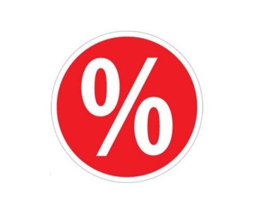 Sticker procentteken rond