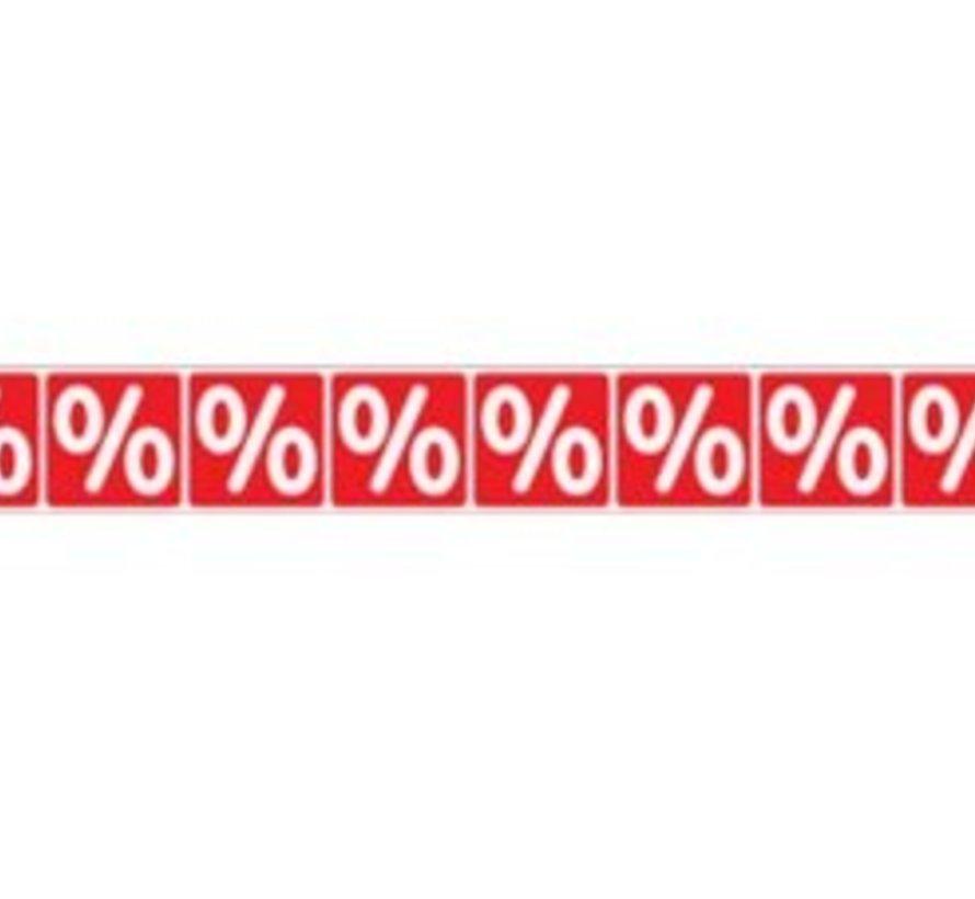 Sticker procentteken