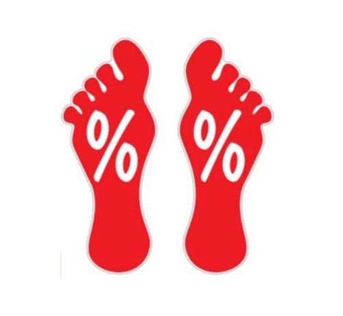 Sticker procentteken voeten
