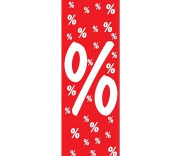 Plafondhanger procentteken