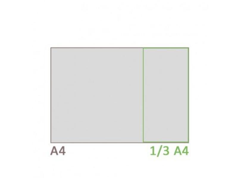 Menuhouder Deluxe 1/3 A4 (liggend)
