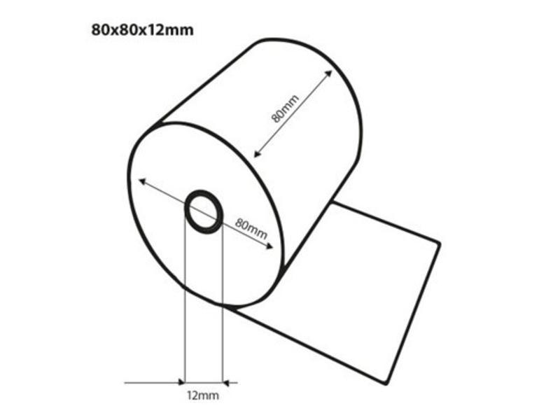 Kassarollen 80x80x12 mm (thermisch) 50rol