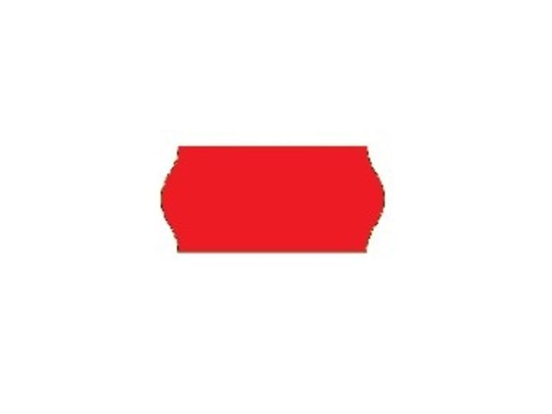 Prijsetiketten 26x12 rood - 1 ds á 36 rol (geschikt voor METO)