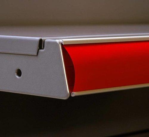 Barcode-prijskaartrail ALU met inschuifhoogte 39 mm