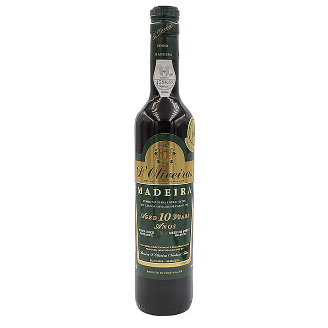 D'Oliveiras Madeira 10 Years Medium Sweet - 0,5L